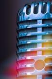 Close up do microfone do estúdio Imagens de Stock