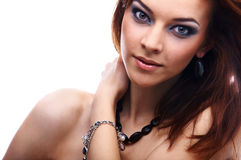 Close-up do modelo bonito Fotografia de Stock Royalty Free