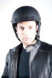 Close-up do motociclista Fotos de Stock Royalty Free
