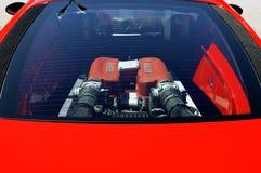 Close-up do motor de Ferrari Foto de Stock