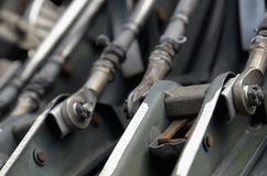 Close-up do motor do plano de dentro de Foto de Stock Royalty Free
