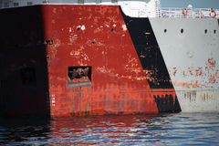 Close up do navio de carga Foto de Stock