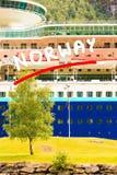 Close up do navio de cruzeiros fotos de stock