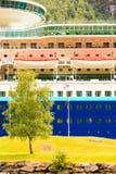 Close up do navio de cruzeiros fotografia de stock