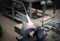 Close up do objeto do metal do aquecimento Foto de Stock