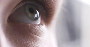 Close up do olho do adolescente sem composição que olha acima Imagem de Stock