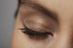 Close-up do olho fechado Imagem de Stock Royalty Free