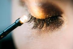 Close-up do olho fechado Foto de Stock Royalty Free