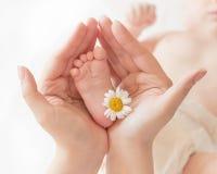 Close-up do pé do bebê Imagens de Stock