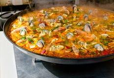 Close up do paella Fotos de Stock