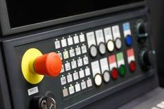 Close up do painel de controle do CNC Fotos de Stock