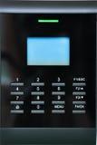 Close up do painel do controle de acesso Foto de Stock