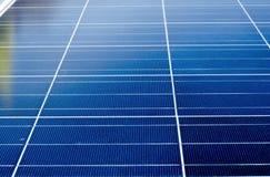 Close up do painel solar Foto de Stock