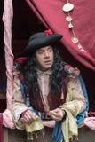 Close-up do participante o partido medieval do traje Imagens de Stock Royalty Free