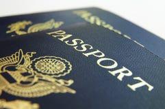 Close up do passaporte foto de stock royalty free