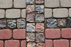 Close up do pavimento cinzento e vermelho imagens de stock royalty free