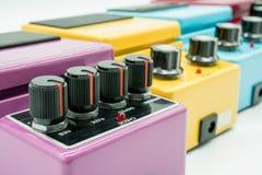 Close up do pedal da guitarra do vintage Fotografia de Stock Royalty Free