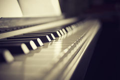 Close-up do piano Imagens de Stock Royalty Free