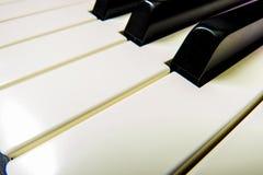 Close-up do piano Imagens de Stock Royalty Free