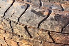 Close up do pneu para o fundo Fotos de Stock