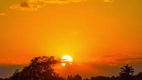 Close-up do por do sol, tempo-lapso filme