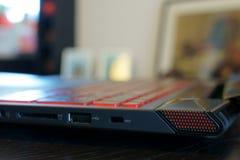 Close-up do portátil do jogo Imagens de Stock Royalty Free