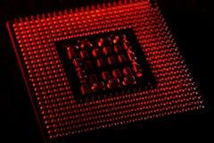 close up do processador central para o PC Fotografia de Stock Royalty Free