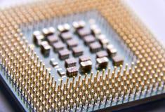 close up do processador central para o PC Fotos de Stock