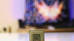 Close up do processador do computador vídeos de arquivo