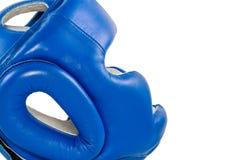Close up do pugilista do capacete Imagem de Stock