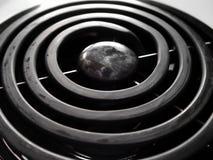 Close up do queimador do fogão imagem de stock royalty free