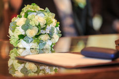 Close-up do ramalhete do casamento Foto de Stock