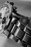 Close up do relógio do aço inoxidável Imagem de Stock