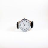 Close up do relógio isolado no fundo branco Foto de Stock Royalty Free