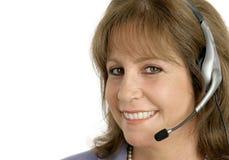 Close up do representante do serviço de atenção a o cliente Foto de Stock Royalty Free