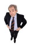 Close up do retrato do homem de negócios imagens de stock