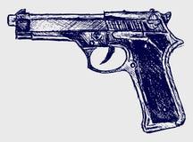 Close-up do revólver Imagens de Stock