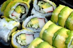 Close up do rolo de sushi fotografia de stock
