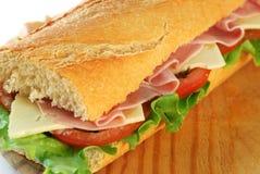 Close up do sanduíche do Baguette Foto de Stock Royalty Free