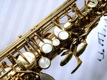 Close-up do saxofone Imagem de Stock Royalty Free