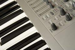 Close-up do sintetizador Fotografia de Stock Royalty Free