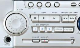 Close up do sistema audio. Fotos de Stock