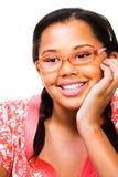 Close-Up do sorriso do adolescente Fotografia de Stock