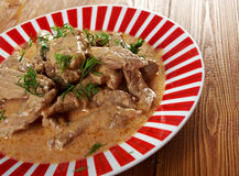 Close up do stroganoff Fotos de Stock Royalty Free