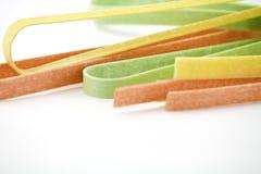 close-up do tagliatelle- de 3 cores Fotos de Stock Royalty Free