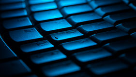 Close-up do teclado com espaço da cópia Fotos de Stock Royalty Free