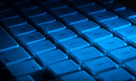 Close-up do teclado com espaço da cópia Foto de Stock Royalty Free
