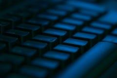 Close-up do teclado de computador com espaço vazio fotografia de stock