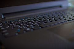 Close up do teclado do portátil imagem de stock