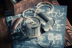 Close up do telefone análogo retro como um conceito de uma comunicação imagem de stock royalty free